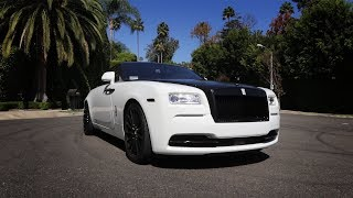 Here in my garage, custom Rolls Royce Wraith!