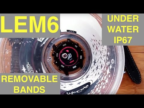 LEMFO LEM6 Android 5.1 Smartwatch IP67 with Removable Bands: Unboxing & Overview