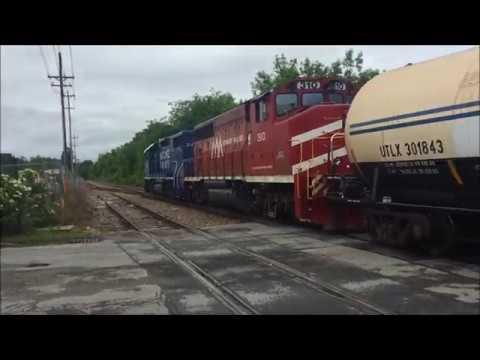 Vermont Railway BDRD leaves Burlington Yard