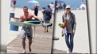 Liev Schreiber and Naomi Watts Take their Children Surfboarding | Splash News TV | Splash News TV