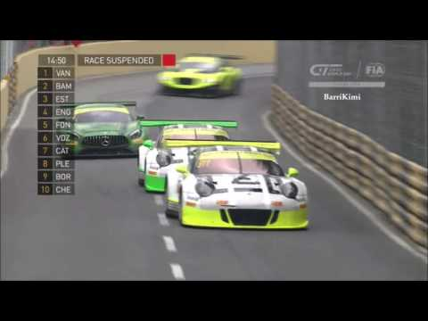 FIA GT World Cup Macau 2016 Vanthoor Huge Crash
