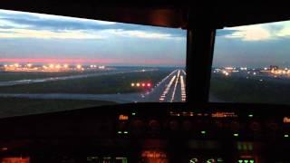Посадка в Шереметьево,А320,Аэрофлот - Российские Авиалинии.