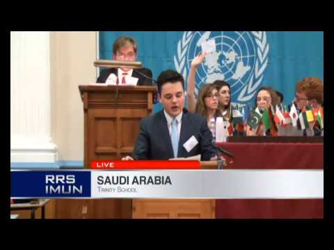 Royal Russell School International Model United Nations Conference - Opening Speeches 2014