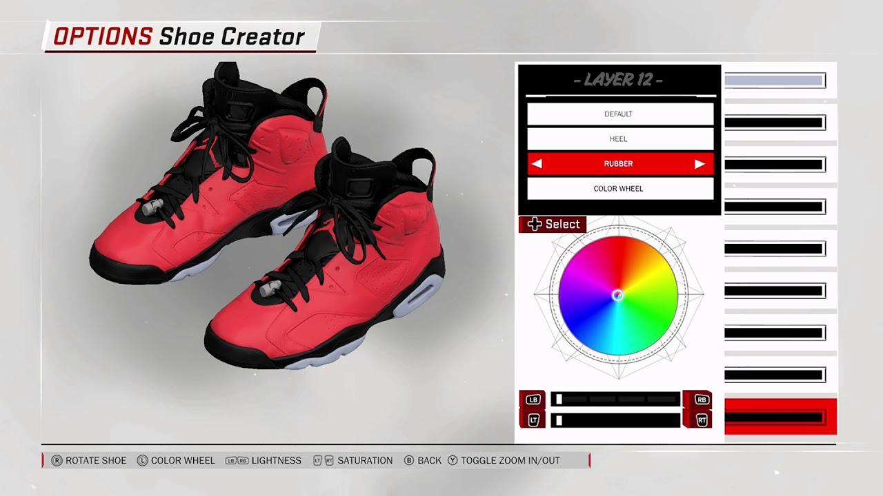 NBA 2K18 Shoe Creator Air Jordan 6
