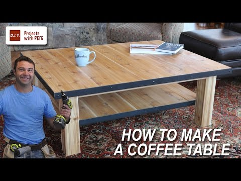 How to Make a Coffee Table with Steel Accents