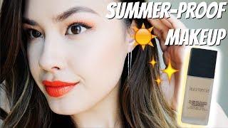 Long-Lasting Summer Proof Makeup + Laura Mercier Flawless Fusion Ultra-Longwear Foundation Review