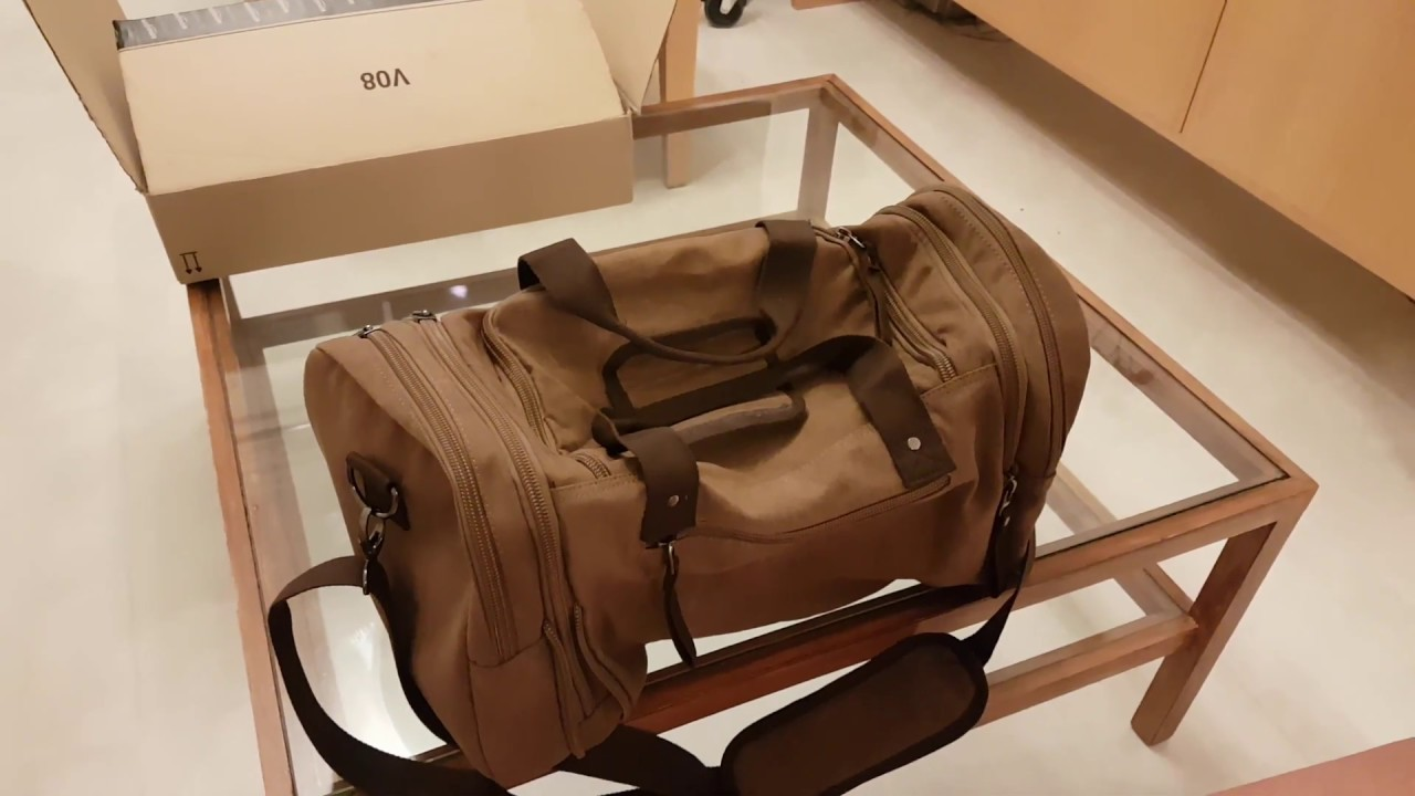 be60ca6b44a New   Next Large Capacity Weekend Bag Oversized Canvas Travel Duffel Bag  Tote Luggage Case Coffee