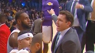 LeBron James Exchanges Words With Luke Walton After Choking (Parody)