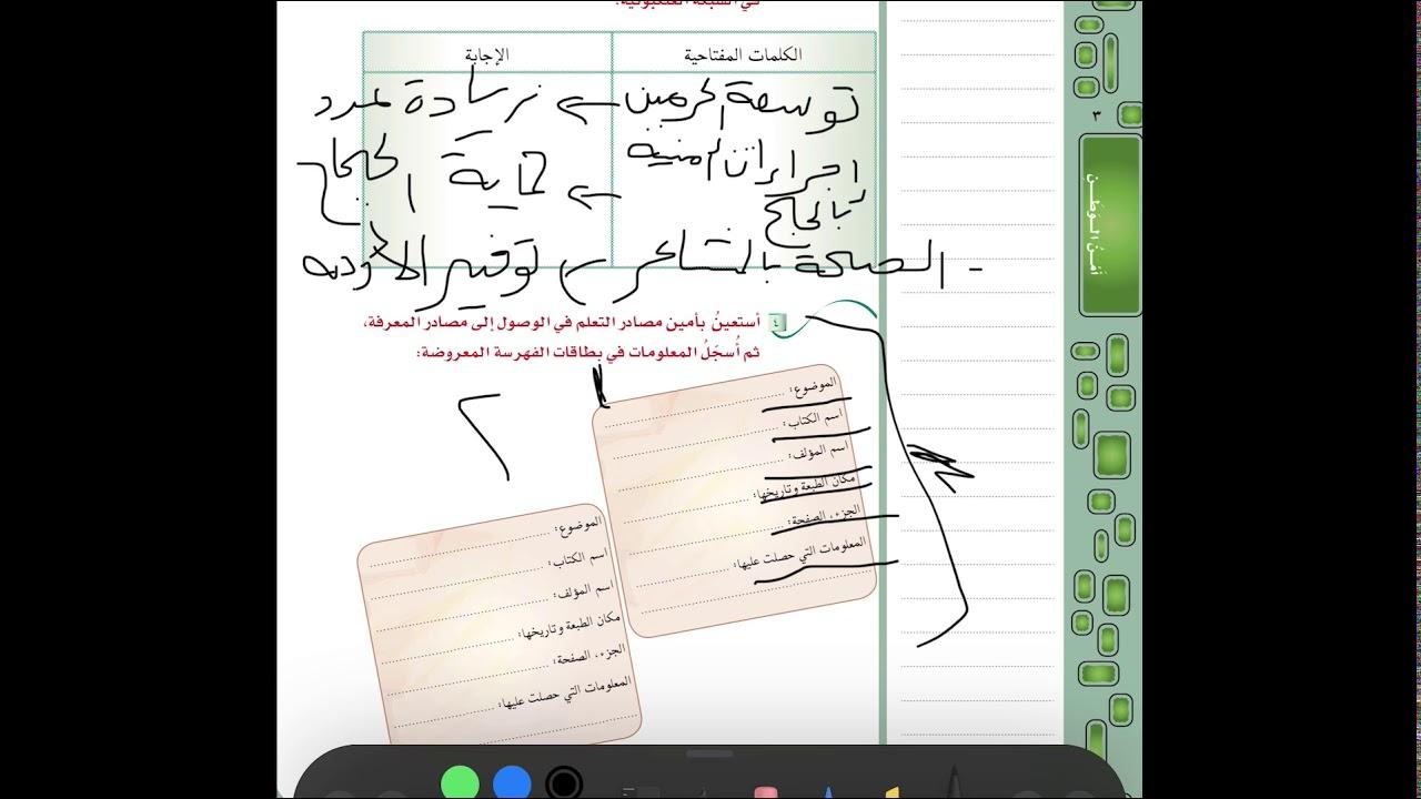 لغتي الخالدة ٣ م عناصر الفن الكتابي بسط الموجز Youtube