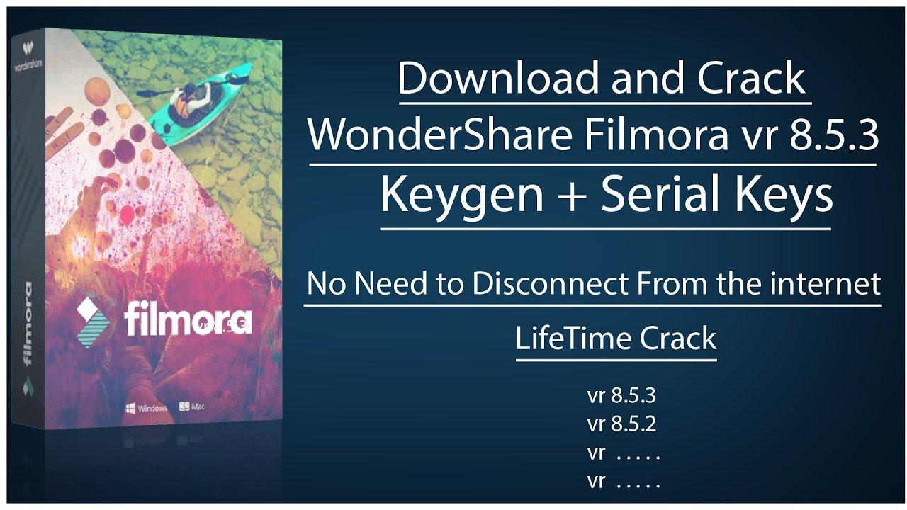 filmora 8.5.3 serial number