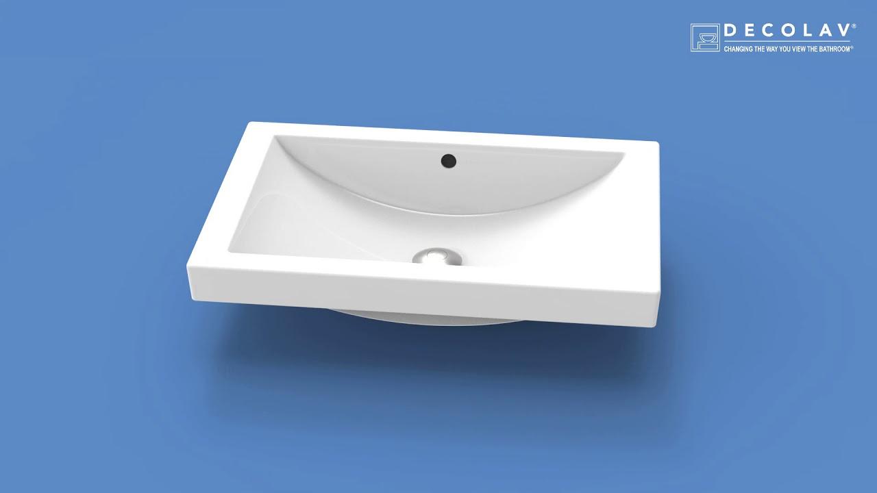 Semi Recessed Bathroom Sink