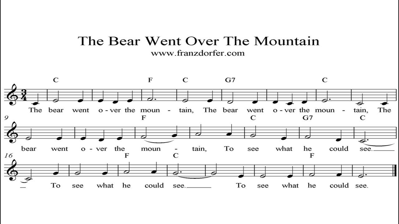 The Bear went over the Mountain - YouTube