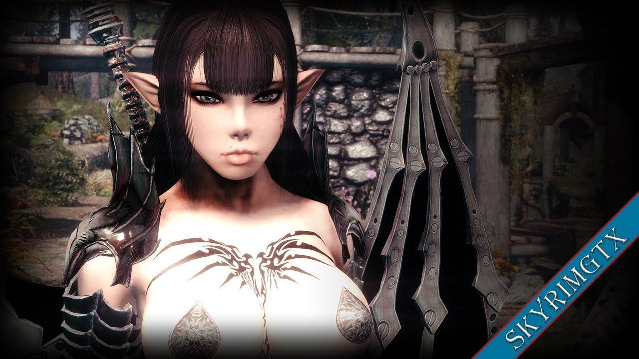 Skyrim SE: Playable Nexxis!! :D (with HDT hair)