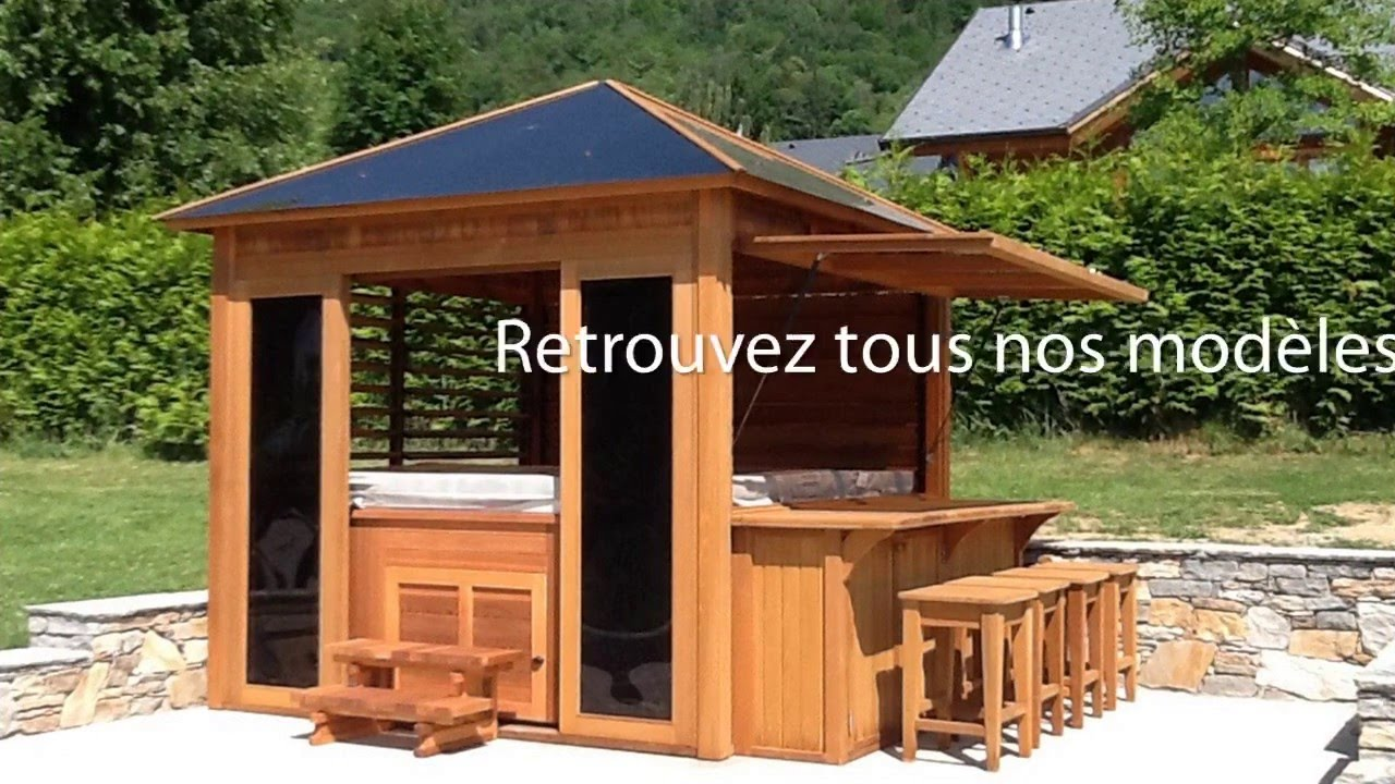 gaz bos des abris pour spas en ext rieur youtube. Black Bedroom Furniture Sets. Home Design Ideas