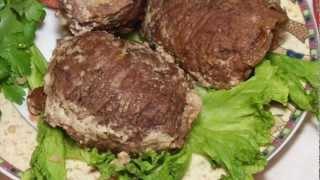 Рулетики из говядины с КУС-КУСОМ и зеленью
