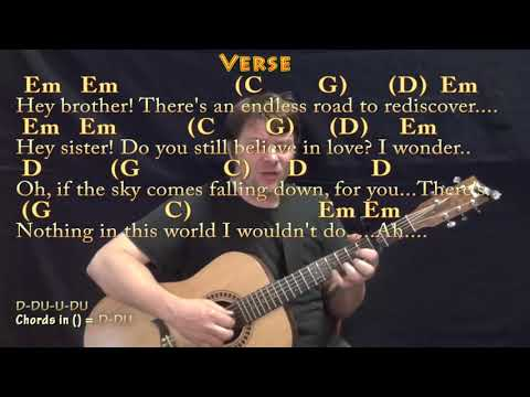 Hey Brother Avicii Fingerstyle Guitar Cover Lesson With Chords