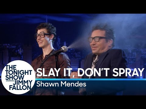 Slay It, Don't Spray It with Shawn Mendes and Jimmy Fallon