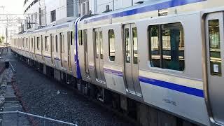 E235系1000番台横クラF-02編成+横クラJ-10編成横浜駅高速進入