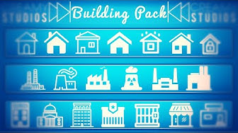 Building/City Icon Pack   Free Download PSD