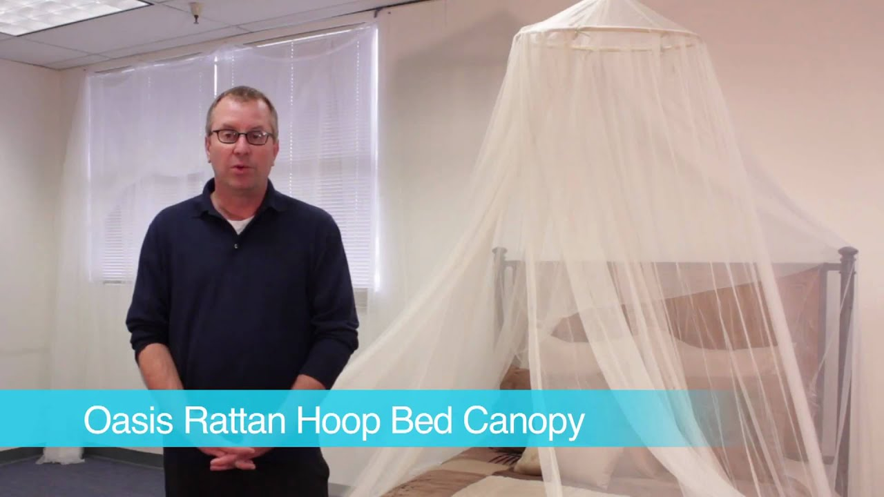 sc 1 st  YouTube & Oasis Rattan Hoop Bed Canopy - YouTube