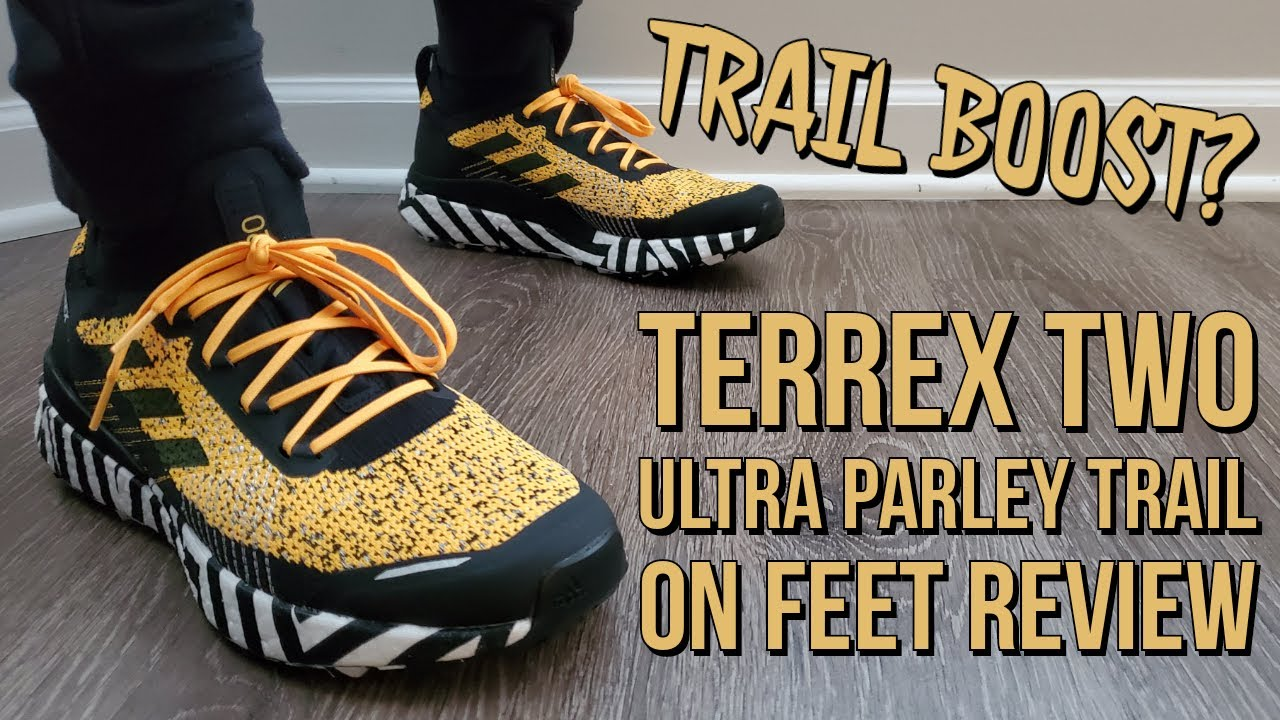 "sin cable Alfombra asignación  Adidas Terrex Two Ultra Parley Trail ""Solar Gold"" On Feet Review (FW7424) -  YouTube"