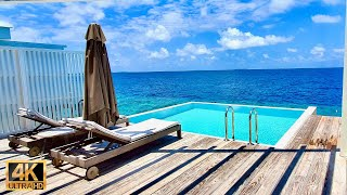Maldives relaxation 4k video with soothing jazz bossa music 3 hours | Maldives virtual travel 2021