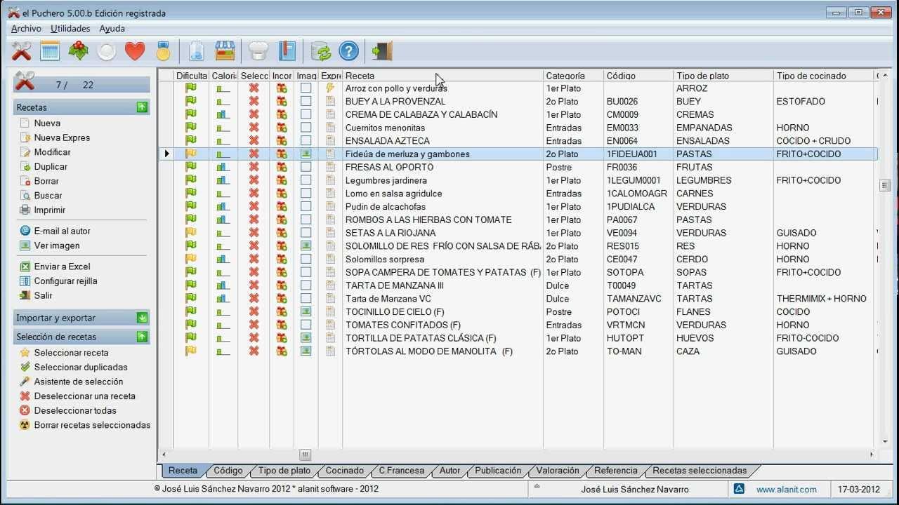 Software De Organización De Recetas De Cocina