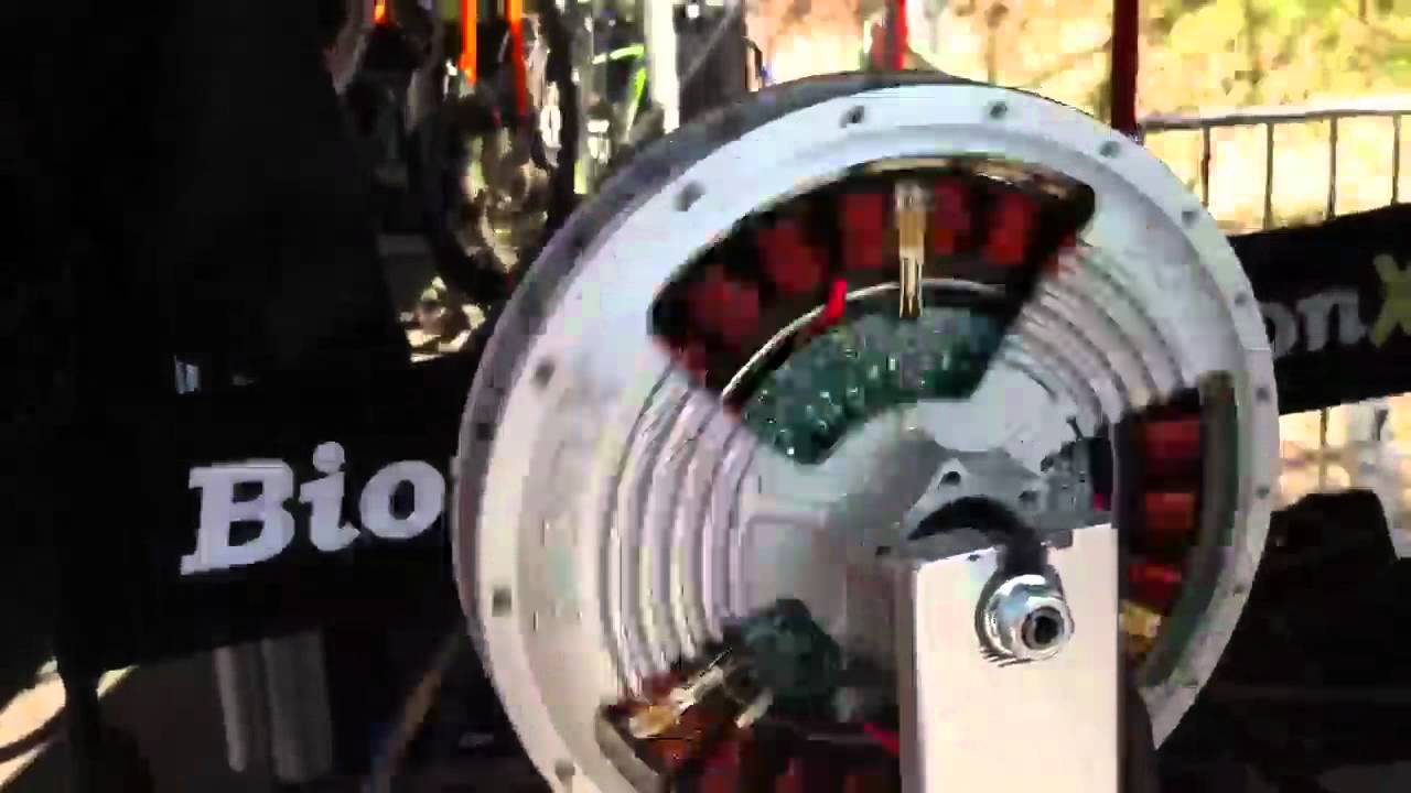 How To Make An Electric Motor >> Bionx Electric Bike Motor at Interbike Outdoor Demo - YouTube