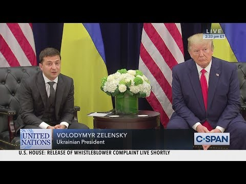President Trump meets with Ukrainian President Volodymyr Zelensky