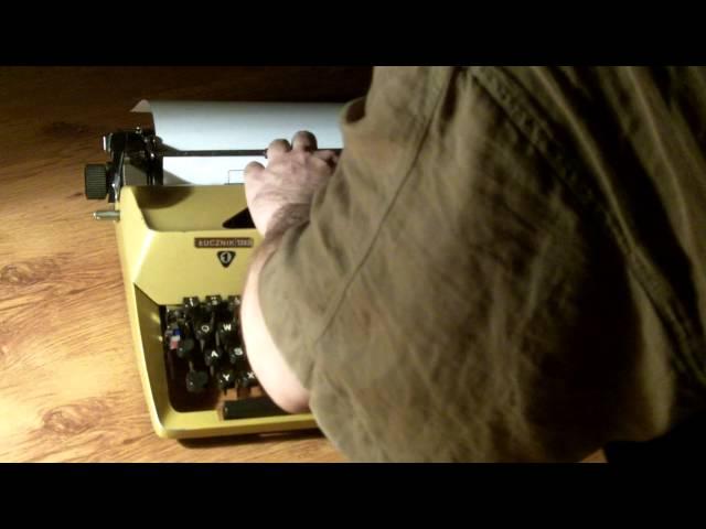 ?UCZNIK 1303 REAKTYWACJA naprawa maszyny do pisania