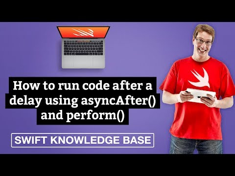 How to run code after a delay using asyncAfter() and perform() – Swift 5 thumbnail