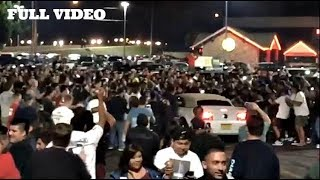 MUSTANG CRASHES INTO HUGE CROWD! ( Full Video )