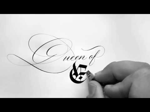 39 Queen Of England 39 Seb Lester Calligraphy Youtube