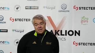 Михаил Бутов об итогах сезона 2018 года Geraklion Athletics