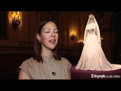 Royal wedding dress goes on display