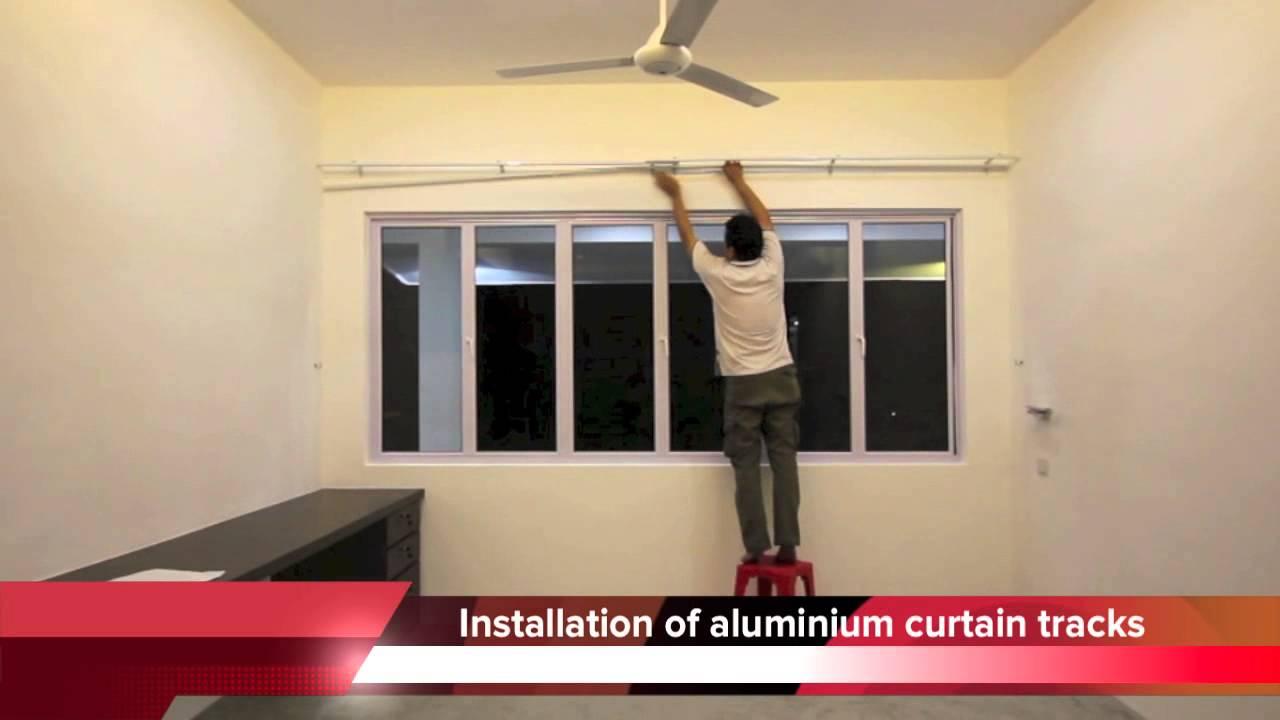 Curtain Installation By JK Furnishing