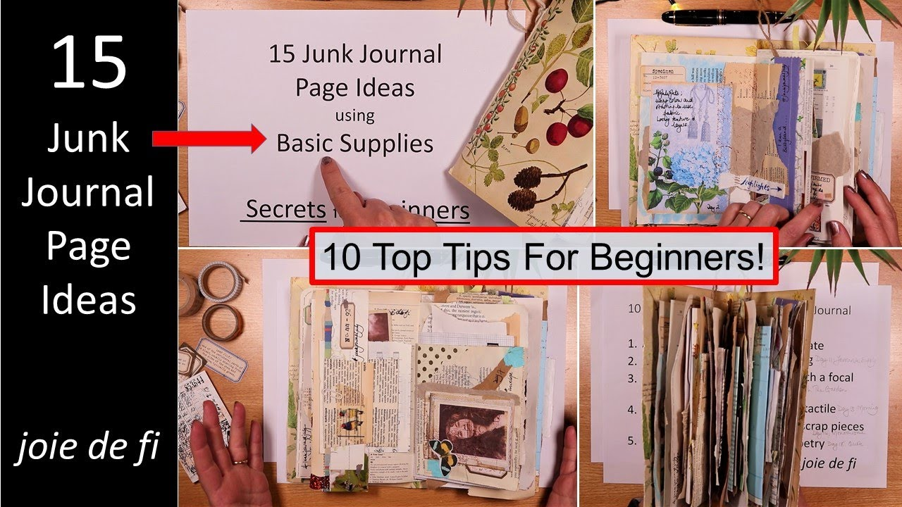 15 Junk Journal Page Ideas Using Basic Supplies ⭐ Sharing My Secrets ⭐ For Beginners