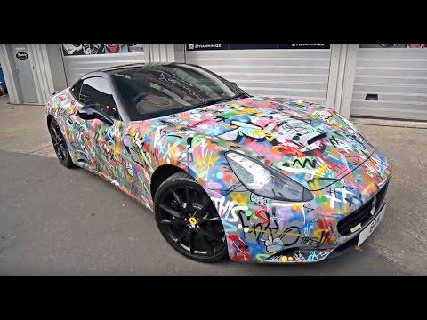 Graffiti Ferrari California gets stripped!