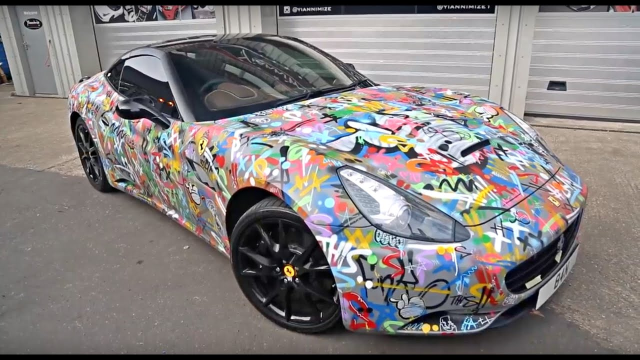 Graffiti Ferrari California Gets Stripped!