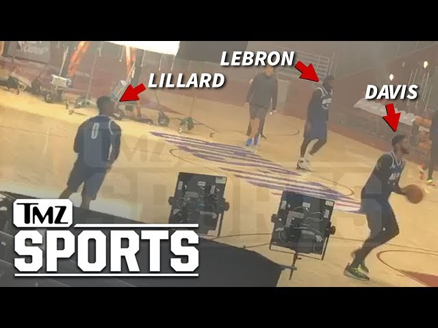LeBron James Hoops with Anthony Davis On 'Space Jam 2' Set | TMZ Sports