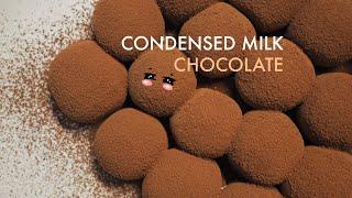วิธีทำโกโก้หนึบ ง่ายๆ ด้วยของแค่ 2 อย่าง Condensed milk Chocolate Truffles Recipe