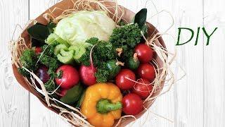 """Букет из овощей """"Салат"""". Съедобные букеты своими руками."""