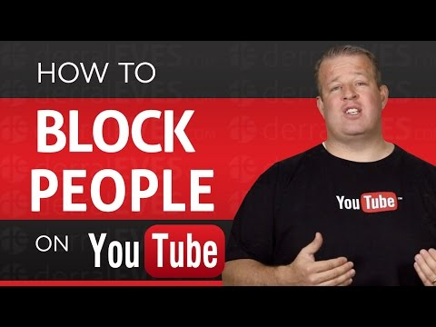 How to Block Someone on your YouTube Channel - Ban People