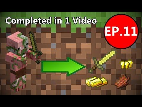 Minecraft เอาชีวิตรอด (1.8.8) #11 - ฟาร์มทองอัตโนมัติ Automatic Gold Farm