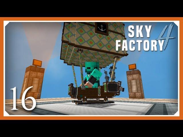 Sky Factory 4 | Compact Machines & Viescraft Airship! | E16