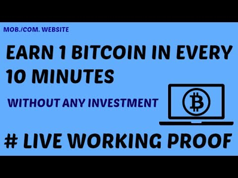 earn 1 bitcoin in every 10 minutes without any investment live working proof hindi video. Black Bedroom Furniture Sets. Home Design Ideas