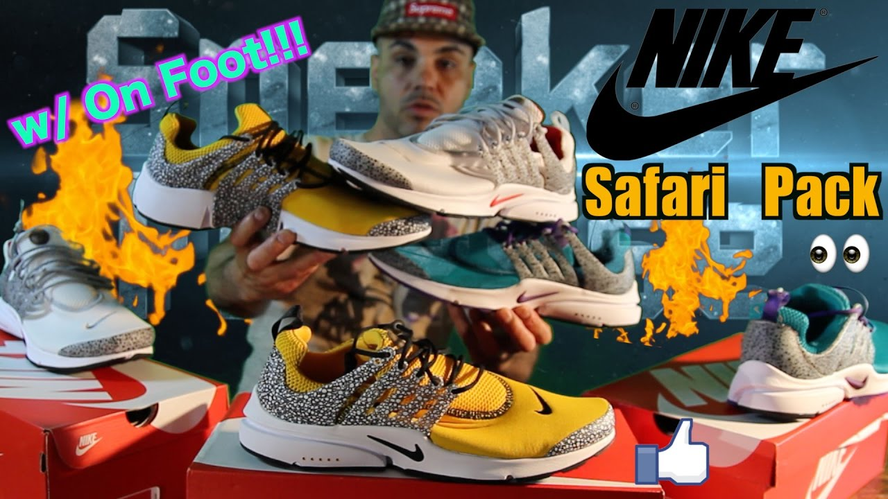 Early Look @ Nike Air Presto Safari Pack Review & On Feet Video!!  (Releasing 5-11-17)