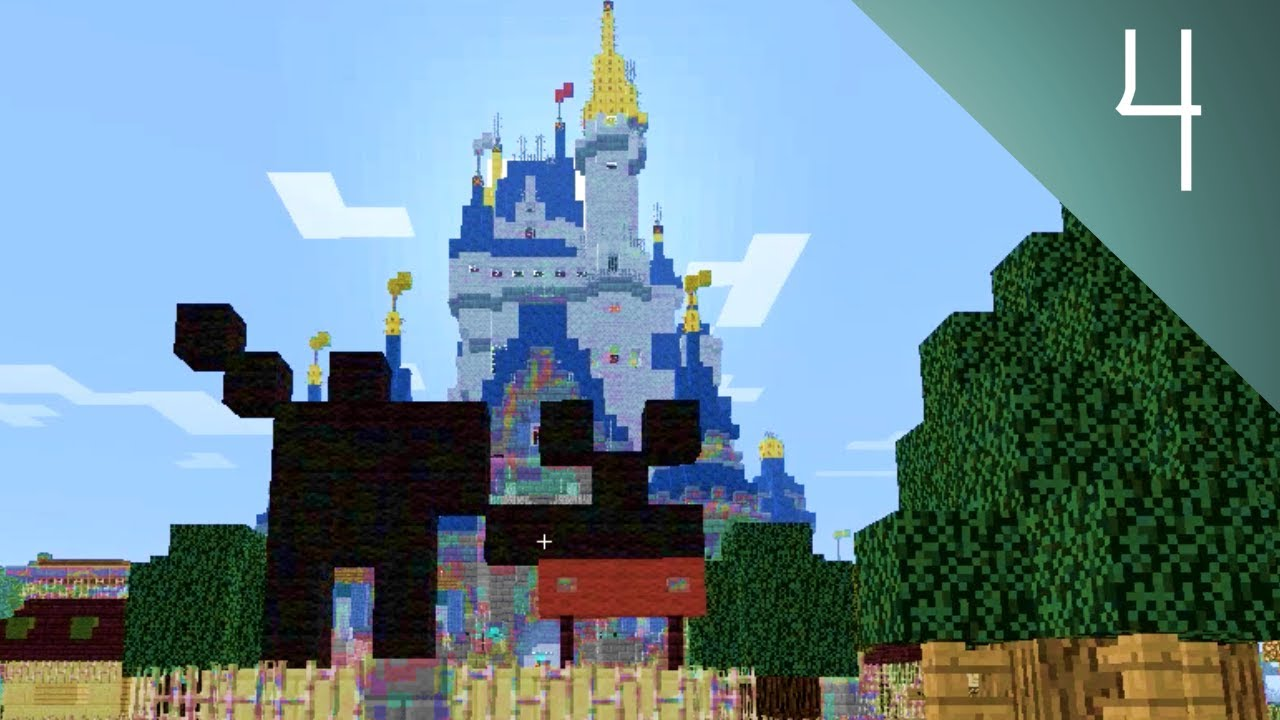 Minecraft Disney World Rob Tours The Magic Kingdom MCMagicus - Mcmagic us map download