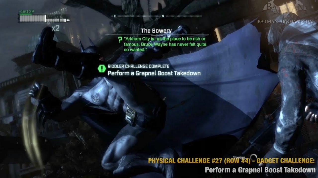 Batman: Arkham City - Physical Challenges - Row #4