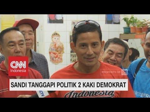 Prabowo Sandi Tanggapi Politik 2 Kaki Demokrat